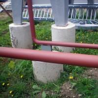 Aušiklių pamatų betonavimas.